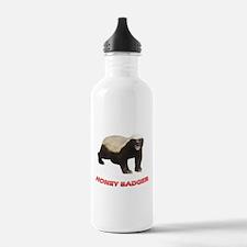Honey Badger He Don't Care Water Bottle
