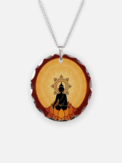 Bhuddism Artwork Necklace Circle Charm