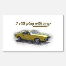 I still play with cars Sticker (Rectangle)