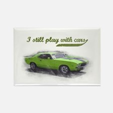 I still play with cars Rectangle Magnet
