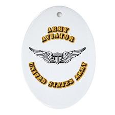 Army - Army Aviator Ornament (Oval)