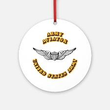 Army - Army Aviator Ornament (Round)