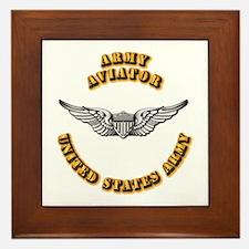Army - Army Aviator Framed Tile