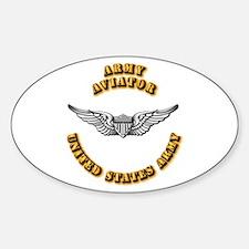 Army - Army Aviator Sticker (Oval)