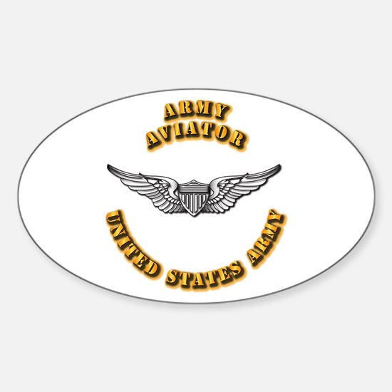 Army - Army Aviator Sticker (Oval)