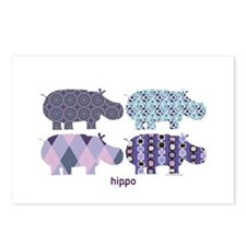 hippo Postcards (Package of 8)