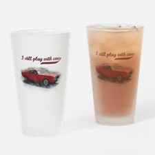 I still play with cars Drinking Glass