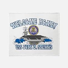 Welcome USS Stennis! Throw Blanket