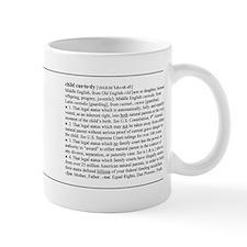 Custody Defined Black Mug