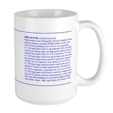 Custody Defined Blue Mug
