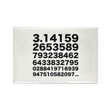 Pi numbers Rectangle Magnet