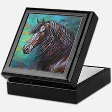 Zelvius the Friesian horse Jewelry Keepsake Box