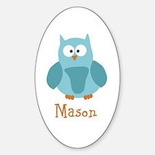 Custom Name Owl Sticker (Oval)