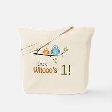 Custom Owl Birthday Tote Bag