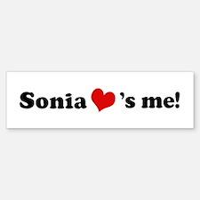 Sonia loves me Bumper Bumper Bumper Sticker