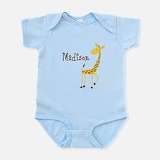 Custom Name Giraffe Infant Bodysuit