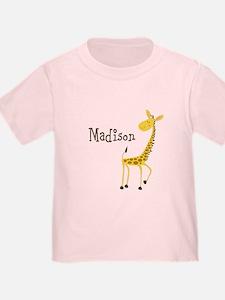 Custom Name Giraffe T