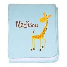 Custom Name Giraffe baby blanket