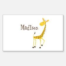 Custom Name Giraffe Decal