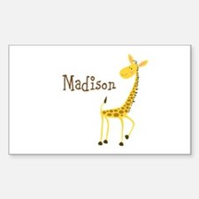 Custom Name Giraffe Sticker (Rectangle)
