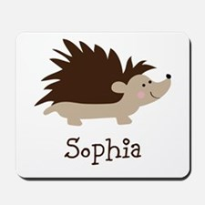 Custom Name Hedgehog Mousepad