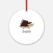 Custom Name Hedgehog Ornament (Round)