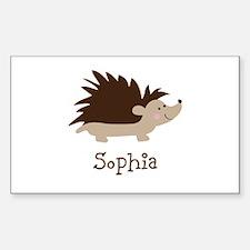 Custom Name Hedgehog Decal