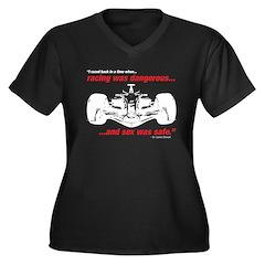 racing dangerous/sex safe Women's Plus Size V-Neck