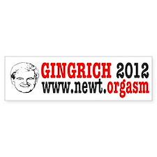 Gingrich 2012 Humor Bumper Sticker