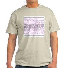 Custody Defined Purple Ash Grey T-Shirt