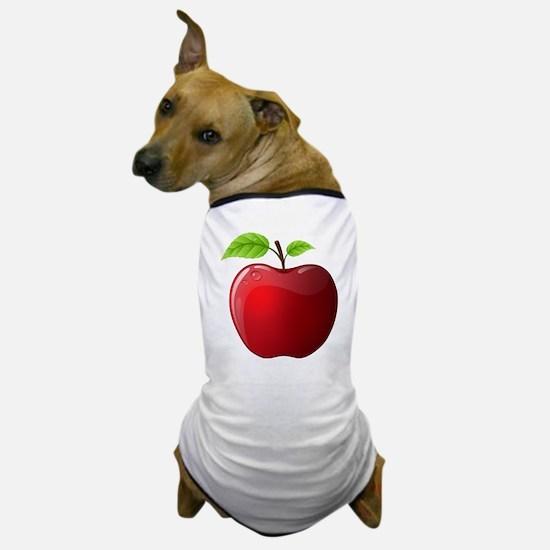 Teachers Apple Dog T-Shirt