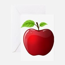 Teachers Apple Greeting Card