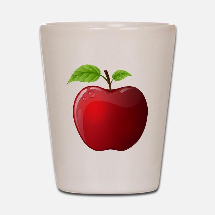Teachers Apple Shot Glass