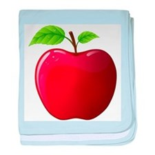Teachers Apple baby blanket