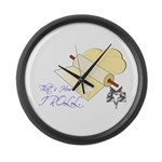 That's How I Rolling Pin. Large Wall Clock