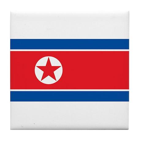 Flag of North Korea Tile Coaster