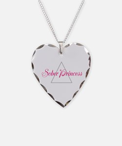 Sober Princess Necklace Heart Charm