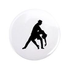 "Dancing couple tango 3.5"" Button (100 pack)"