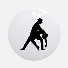 Dancing couple tango Ornament (Round)