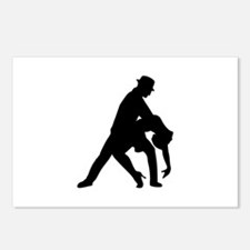Dancing couple tango Postcards (Package of 8)