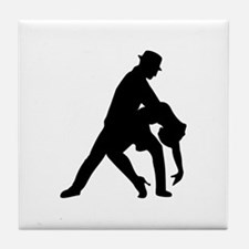 Dancing couple tango Tile Coaster