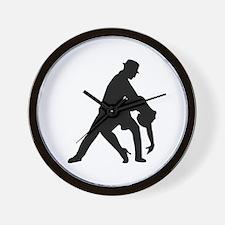 Dancing couple tango Wall Clock