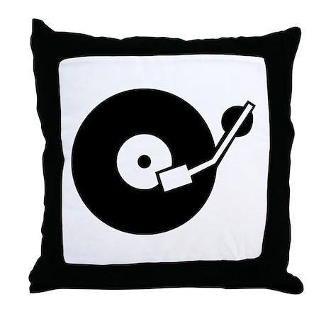 Turntable DJ Throw Pillow