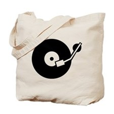 Turntable DJ Tote Bag