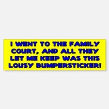 Lousy Court Blue Bumper Bumper Bumper Sticker