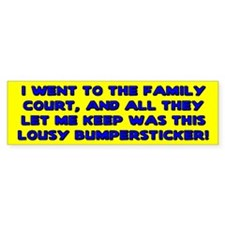 Lousy Court Blue Bumper Bumper Sticker