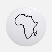 Africa map Ornament (Round)
