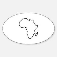 Africa map Sticker (Oval)