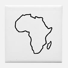 Africa map Tile Coaster