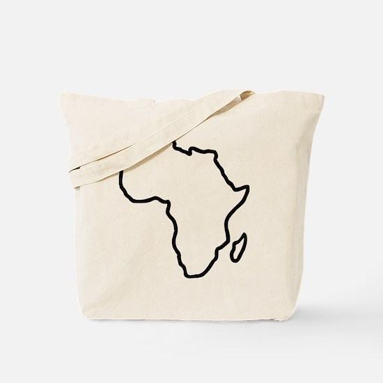 Africa map Tote Bag